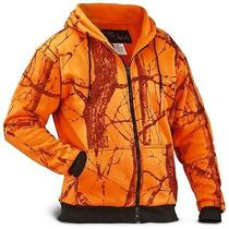 World Famous Sports - Element Gear Orange Camo Thermal Hoodie -  Tag Size 2xl Photo