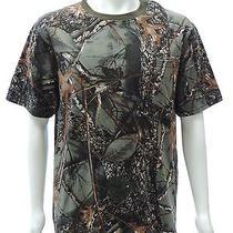 World Famous Sports Nwt Mens 100% Cotton Short Sleeve Camo T-Shirt  Burly Camo L Photo