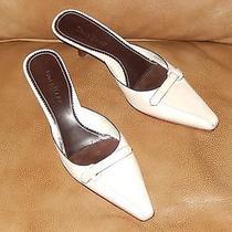 Worn 1x Size 8b Cole Haan Womens Heels Mules Beige Bone 8 B Medium Pointy Toe Photo