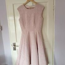 Worn Once229 Rare Ted Baker Size 3 Uk 12 14 Blush Pink Jacquard Dress Christmas Photo