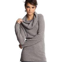 Worn Once 256 Magaschoni Grey 100% Cashmere Cowl Neck Tunic Xs Photo