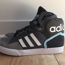 Worn Once Adidas Originals Extaball Onyx/white/blush Blue Women's 7.5 High Tops Photo