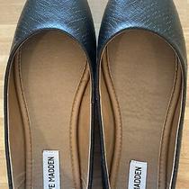 Worn Once at-Home Steve Madden Black Slip-on Flats Size 9 Photo