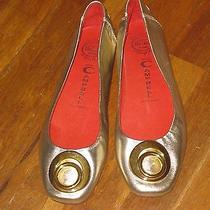 Worn Once  Jeffrey Campbell Leather Gold Metallic  Ballet Flats Shoes Sz 8.5 Photo