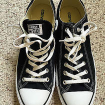 Worn Once-Like New Black Canvas Low Top Converse All Star Men's 11.5 (W 13.5) Photo