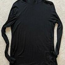 Worn X1 h&m Black Maternity Turtleneck Viscose Top M Very Soft Photo
