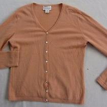Worthington Women's 100% 2 Ply Cashmere L/s Blush Pink Cardigan Sweater - Large Photo