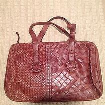 Woven Brown Leather Handbag Photo