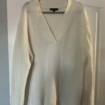 Wow Banana Republic Womens Off White Cozy Soft v-Neck Sweater Pullover Sz Xxl Photo