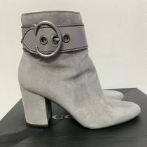 Wow-Coach Dara-Grey Suede Boots-Sz 9-High Heel-Used Only Once- in Original Box Photo