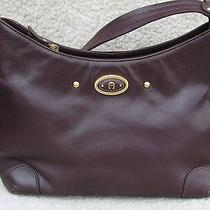 Wow Etienne Aigner Burgundy Leather Handbag Purse Hobo Satchel Bag Minty Photo