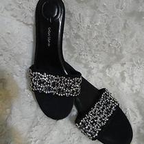 Wow Fancy Rhinestone Crystal Sandals....casual Corner Size 6 Brand New W/out Box Photo