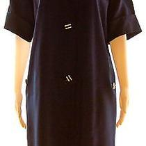 Wow Givenchy Nouvelle Boutique Navy Blue Vintage Dress Size S-M Made in France Photo