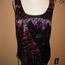 Wow New Guess Vibrant Silk Like Stretch Tank Small Photo