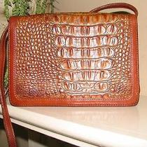 Wow Nice Cross Body Brahmin Croc & Tuscan Leather Organizer Purse Bag Clutch Photo