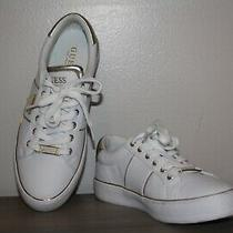 Wow...women's Guess White and Gold Tennis Shoes Size 8 1/2 Photo