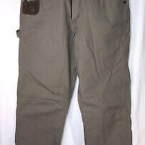 Wrangler Riggs Ranger Ripstop Relaxed Fit Carpenter Pants Color Bark Sz 32 X 34 Photo