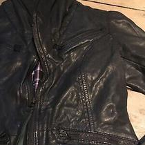 Wrangler Womens Leather Jacket Size S - Excellent Condition Soft Leather Photo