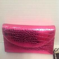 Wristlet by Bjx Iphone Carry Case Wallet Clutch Purse Pink Leather Croc  Photo