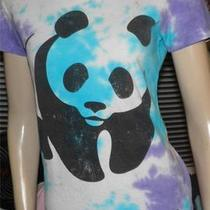 Wwf World Wildlife Fund Chaser Tie Dye Panda Bear Shirt M Alternative Rock Photo