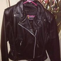 X Element Leather Motorcycle Jacket. Road Gear Photo