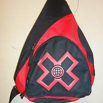 X Games by Concept One Sling Backpack Black & Red Nwt Photo