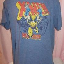 X-Men Wolverine Old Navy Blue Collectabilitees L Large Marvel Comics Tee T Shirt Photo