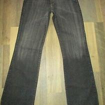 X2 Denim Lab Express Sz 8 R Women's Black Flare Leg Jeans Made in Mexico Photo
