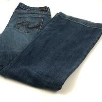 X2 Express Medium Wash Flare Blue Jeans Women's 10 Regular Actual 32x29.5 Photo