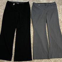 X2 Pair Lot - Express Womens Editor Trouser Dress Pants Black & Grey Both Sz 8s Photo