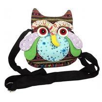 X5 Lots Thai Cotton Handmade Zipper Owl Shoulder Sling Bag Purse Multi Color  Photo