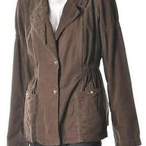 Xcvi Brown Corduroy Jacket Misses Size Medium Nwt 148 Photo