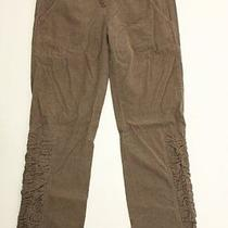 Xcvi Contrast Brown Thin Corduroy Ruched Leg Pants S Photo