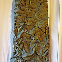 Xcvi Wearables Dusty Pine Green Vertically Ruched Tie Front Long Skirt S Ln Fall Photo