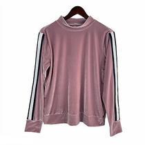 Xersion Blush Pink Velour Velvet Pullover Sweatshirt Size M Photo