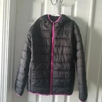 Xersion Girls Black & Purple Spring Hoodie Jacket Size L 14 Photo