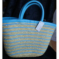 '' Xhilaration '' Fashion   Beach - Shopping - Hand - Straw Tote Bag  Photo