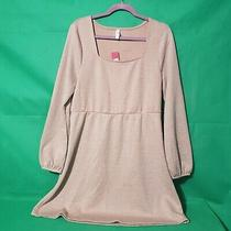 Xhilaration Long Sleeve Square Neck Sweater Mini Dress Blush Pink Size Xl Photo