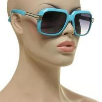 Xl Big Hip Hop Rap Sunglasses Celebrity Vintage Super Retro Men's Blue Large Photo