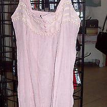 Xl Blush Pink Top Elastized Back Softest Cotton Poly Button Down Mori Girl Lagen Photo