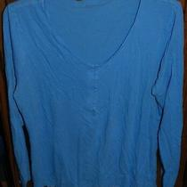 Xl Gap Body Blue Ls Sleep Top Photo
