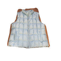 Xl Gap Womens Quilted Down Puff Vest Blue Euc Photo