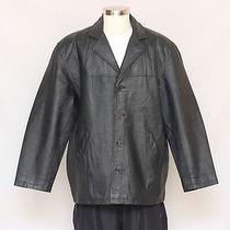Xl Mens Fashion Element Light Insulated Leather Car Coat Jacket Photo