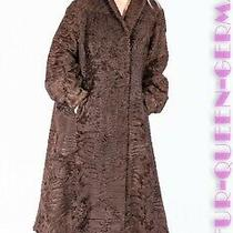 Xl Nice Choco Brown Broadtail Lamb Fur Coat Photo