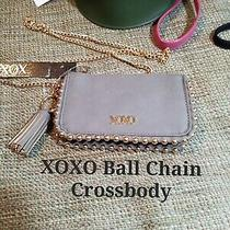 Xoxo Ball Chain Cross Body New W/ Tags Smokey Grey W/ Gold Hardware Small Purse Photo