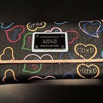 Xoxo Black Trifold Hearts Wallet  Photo