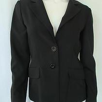 Xoxo Career Black Jacket Blazer 2 Button Front 2 Mock Pockets Polyester Size M  Photo