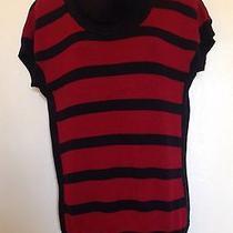 Xoxo Cotton & Acrylic Sweater Tunic Dress / Red & Black - Size Xl Photo