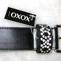 Xoxo Gem Embellished Black Belt  Size Extra Large   Nwt Photo