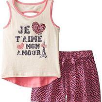 Xoxo Girls' Knit Top Shirt and Knit Shorts 2 Piece Set Size 7/8 Photo